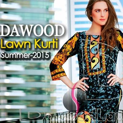 Dawood Lawn Kurti 2015