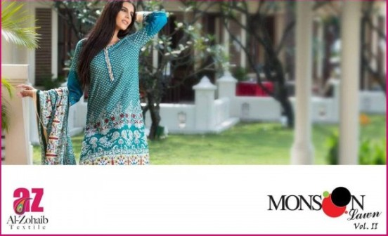 Monsoon Printed Lawn