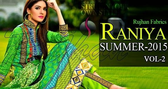 Rujhan Raniya Lawn 2015