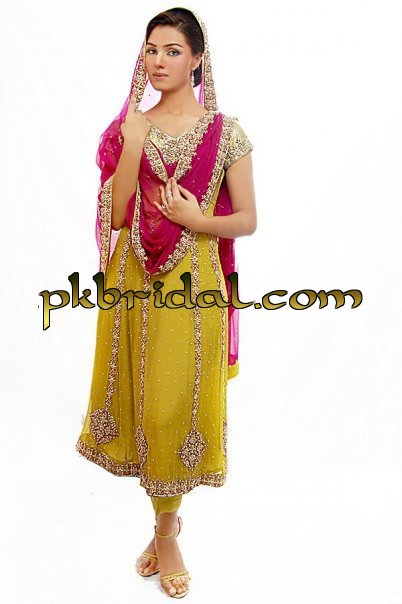 Mehndi Dresses Pakistani Wedding Dressess