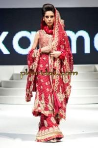 Red Pakistani Bridal Sharara