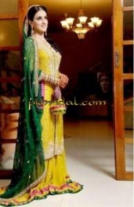 Yellow Bridal Sharara