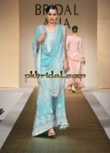 Sky Blue Bridal Sharara