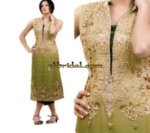 Embroidered Mehndi Dress