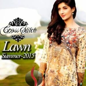 Cross Stitch Printed Lawn