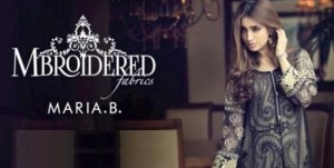 Mariab Embroidered Chiffon Suits