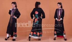 Needle Impression Chiffon Dresses
